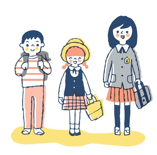 子供3人 小学生