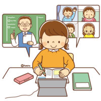 小学校,オンライン授業,不登校