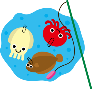 子供,夏祭り,魚釣りゲーム