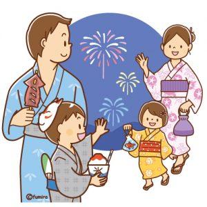 保育園,幼稚園,夏祭り,花火